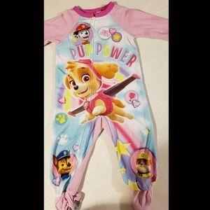 Paw Patrol Fleece Footed Pajamas 2T